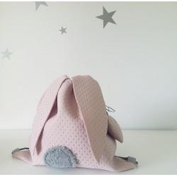 Plecaczek króliczek - różowy